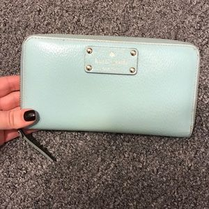 Kate Spade teal large wallet.